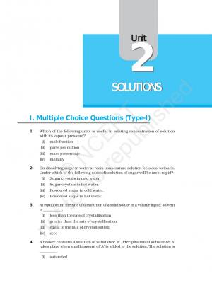 NCERT Exemplar Problems CBSE Class 12 Chemistry - Chapter 2 Solutions  - Read on ipad, iphone, smart phone and tablets.
