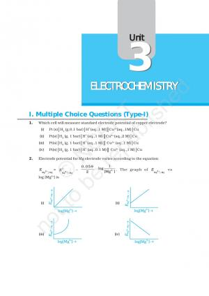 NCERT Exemplar Problems and Solutions of class 12 Chemistry - Chapter 3: Electrochemistry  - Read on ipad, iphone, smart phone and tablets.