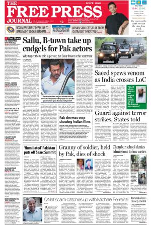 The Free Press Journal - Mumbai Edition - Read on ipad, iphone, smart phone and tablets