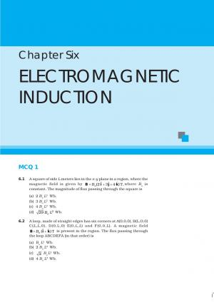 NCERT Exemplar Problems Class 12 Physics Chapter 6 - Electromagnetic Induction  - Read on ipad, iphone, smart phone and tablets.