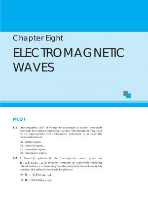 NCERT Exemplar Questions and Solutions CBSE Class 12 Physics Chapter 8 Electromagnetic Waves - Read on ipad, iphone, smart phone and tablets.