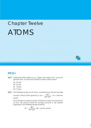 NCERT Exemplar Questions & Solutions: CBSE Class 12 Physics – Chapter 12 Atoms - Read on ipad, iphone, smart phone and tablets.