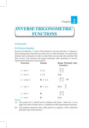 NCERT Exemplar Class 12 Mathematics – Chapter 2 Inverse Trigonometric Functions  - Read on ipad, iphone, smart phone and tablets.