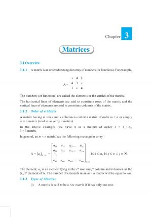 NCERT Exemplar Questions & Solutions CBSE Class 12 Mathematics – Chapter 3 Matrices - Read on ipad, iphone, smart phone and tablets.