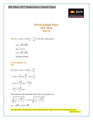 Mathematics JEE Main Sample Paper_new - Read on ipad, iphone, smart phone and tablets.