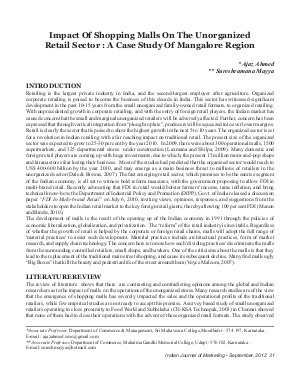IJM-Sep12-Article5-Impact Of Shopping Malls On The Unorganized Retail Sector: A Case Study Of Mangalore Region
