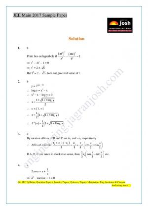 JEE Main Solved Sample Paper Set-VII_Sol - Read on ipad, iphone, smart phone and tablets.