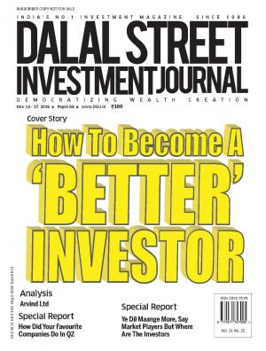 Dalal Street Investment Journal Vol 31 Issue no 25 , November 14, 2016