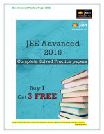 JEE Advanced Solved Practice Paper Complete Package - eBook - Read on ipad, iphone, smart phone and tablets