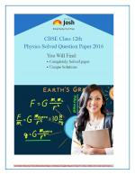 CBSE Class 12th Solved Question Papers PCM - eBook - Read on ipad, iphone, smart phone and tablets