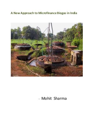 A New Approach to Microfinance Biogas in India - Read on ipad, iphone, smart phone and tablets.