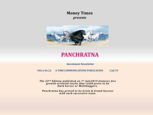 Panchratna - An Investment Newsletter