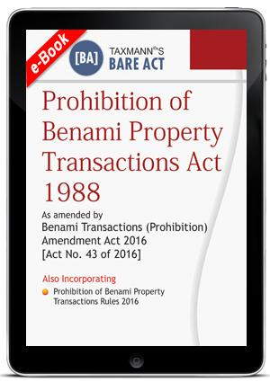 PROHIBITION OF BENAMI PROPERTY TRANSACTIONS ACT 1988