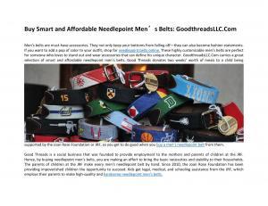 Get Your Favorite Design Custom Needlepoint Belts: GoodThreadsLLC.Com