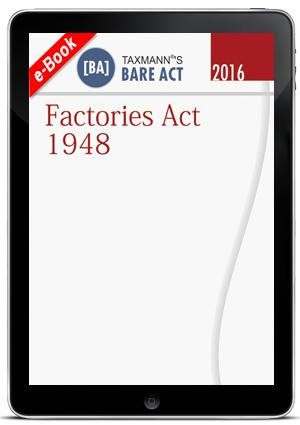Factories Act 1948 with State Amendment