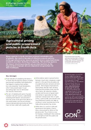 Agricultural pricing and public procurement policies in South Asia - Read on ipad, iphone, smart phone and tablets.