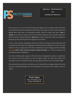 Signwriters In Melbourne