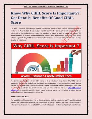 Why CIBIL Score Is Important
