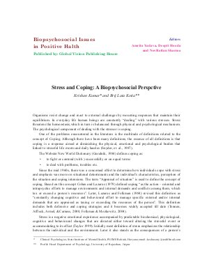 Stress and Coping: A Biopsychosocial Perspctive by Krishan Kumar and Brij Lata Kotia