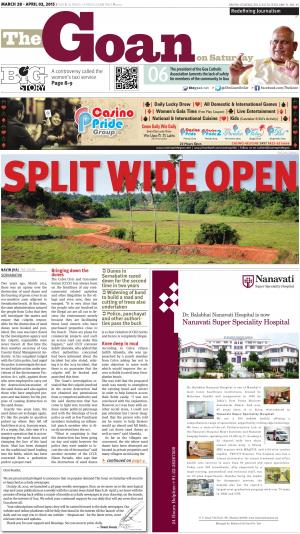 The Goan on Saturday - Read on ipad, iphone, smart phone and tablets.