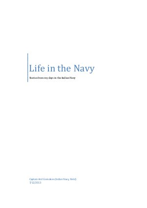 Life in the Navy
