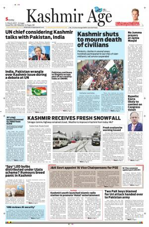 Kashmir Age - Read on ipad, iphone, smart phone and tablets.