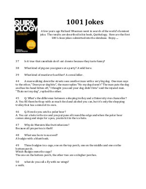 1001 Jokes - Richard Wiseman - Read on ipad, iphone, smart phone and tablets.