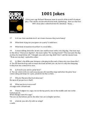 1001 Jokes - Richard Wiseman